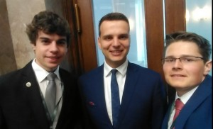 Zdjęcie z posłem Jakubem Kuleszą(Kukiz 15)