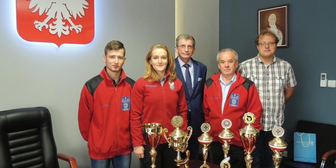 Wicemistrzowie Polski odwiedzili Starostę