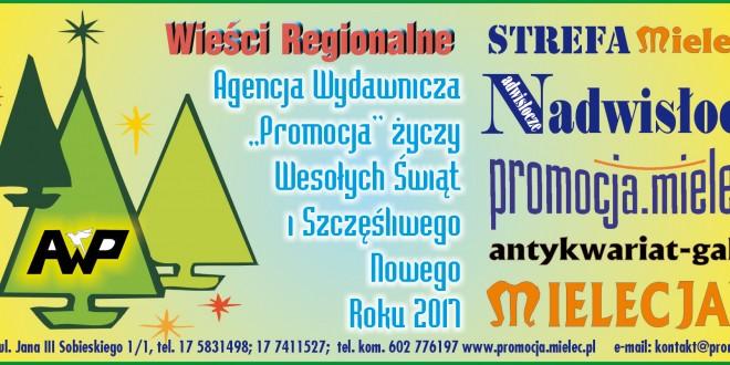 """""""Wieści Regionalne"""" nr 11-12/16(329-330) i """"Magazyn Prasowy Strefa"""" nr 11-12(412) z 21 XII 2016 r."""