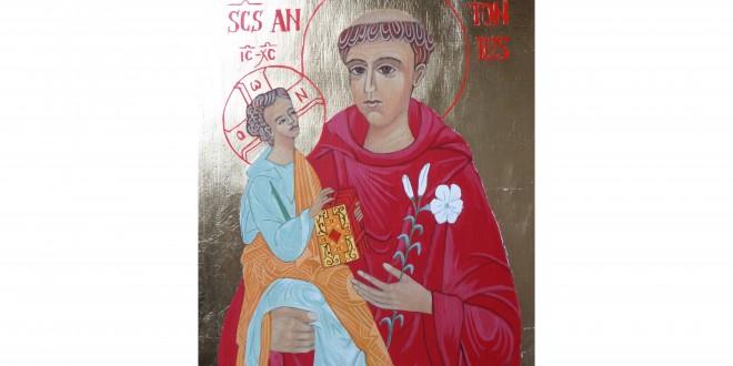 Św. Antoni z Padwy, ikona ręcznie pisana