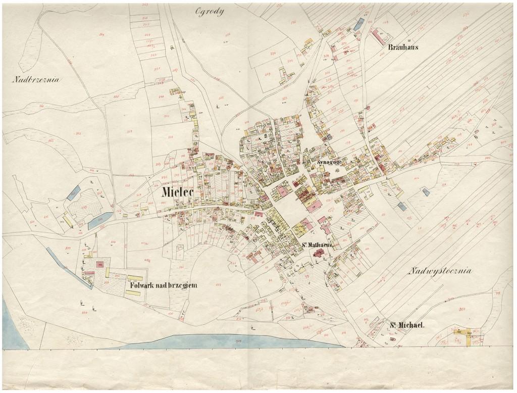 mapa mielca z 1853 r strona