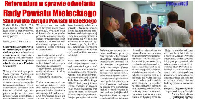 """""""Wieści Regionalne"""" nr 7/17(337) i """"Magazyn Prasowy Strefa"""" nr 7(417) z 28 VII 2017 r."""