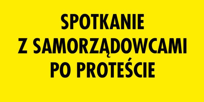 Zaproszenie na spotkanie z samorządowcami po proteście 25 marca br.
