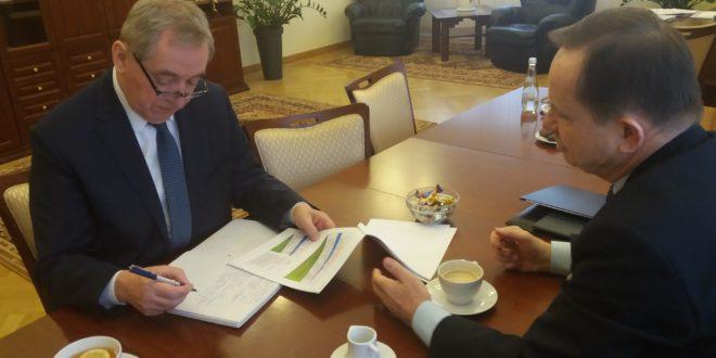Spotkanie marszałka z ministrem środowiska Henrykiem Kowalczykiem