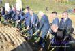 Symboliczne wbicie łopaty – uroczysta inauguracja budowy mostu na rzece Wisłoka w Mielcu