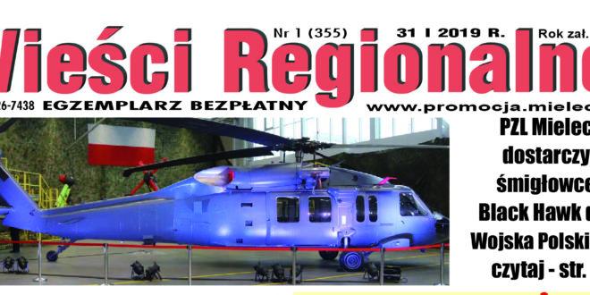 """""""Wieści Regionalne"""" nr 1 (355) z 31 I 2019 r. – bezpłatna wersja elektroniczna pdf"""
