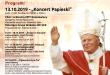Plan wydarzeń związanych z obchodami Dnia Papieskiego